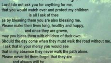 Child's Prayer When Facing An Exam