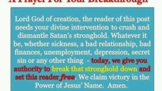 Prayer To Be Set Free From Sickness