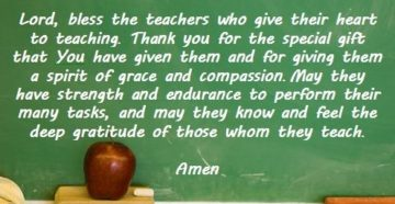 Prayer Of Gratitude For Teachers