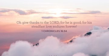 Prayer of Thanks for God's Steadfast Love