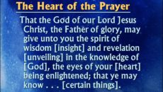 Prayer For The Spirit Of Wisdom And Revelation