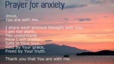 Prayer Against Stress And Anxiety
