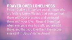 A Prayer When Feeing Lonely
