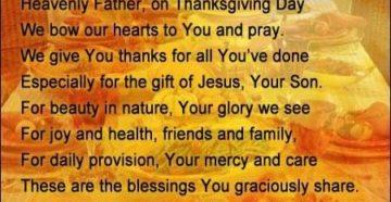 Prayer Of Thanks For Our Dinner