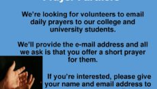 Prayer For Volunteers to GO…