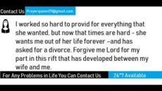 Prayer Of A Husband Hurt Through Divorce