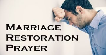 Prayer For Restoration in Marriage