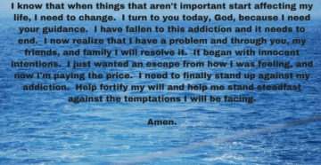 Prayer To Heal Drug Addiction