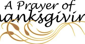 Prayer Of Thanksgiving