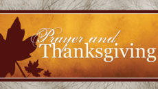 Prayer Of Thanksgiving In The Evening