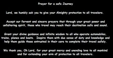 Prayer For Safe Holiday Travel
