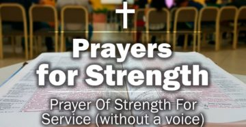 Prayer Of Strength For Service
