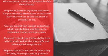 Prayer To Prepare For An Exam