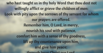 Prayer of Comfort In A Time Of Loss