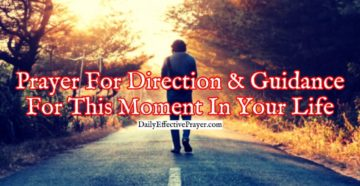 Prayer For Direction In Life