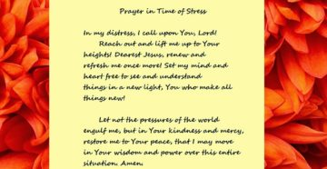 Prayer For Holiday Stress