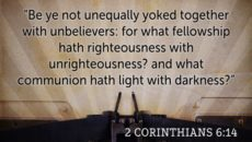 Help For Those Unequally Yoked Together