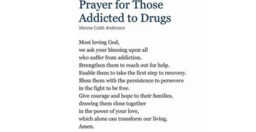 Prayer For Those Addicted To Drugs