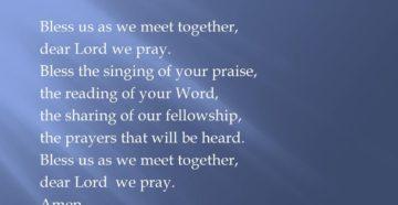 Opening Prayer For Prayer Meeting