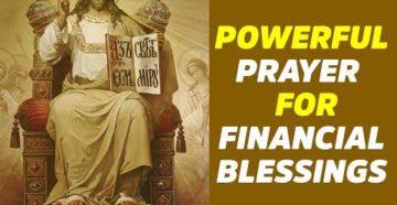 Prayer of Thanks for Financial Blessings